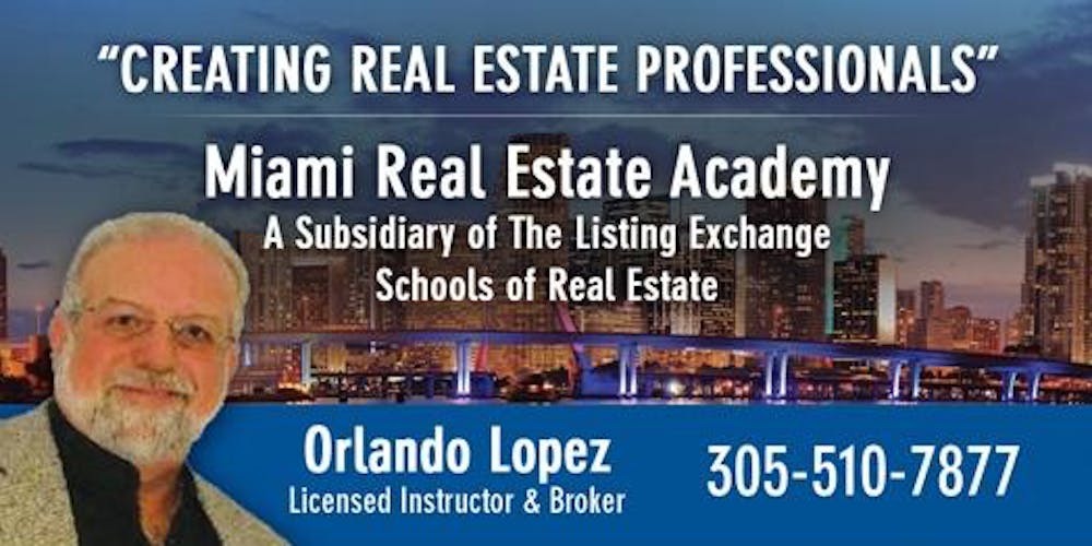 REAL ESTATE LICENSING - ONLY 12 HOURS CLASSROOM - 10-3-2019