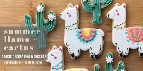 Summer LLAMA + CACTUS Cookie Decorating Workshop tickets