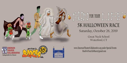 "HALLOWEEN 5K RUN/WALK "" Run For Your Life"""