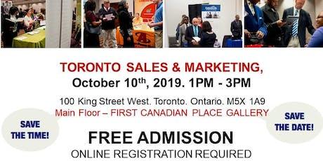 Toronto Sales & Marketing Job Fair - October 10th, 2019 tickets