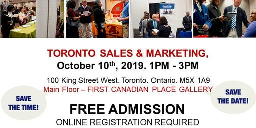 Toronto Sales & Marketing Job Fair - October 10th, 2019