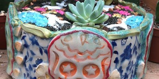 Sugar Skull Terrarium  @ Bakers Nursery