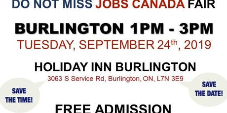 FREE: Burlington Job Fair – September 24th, 2019 tickets