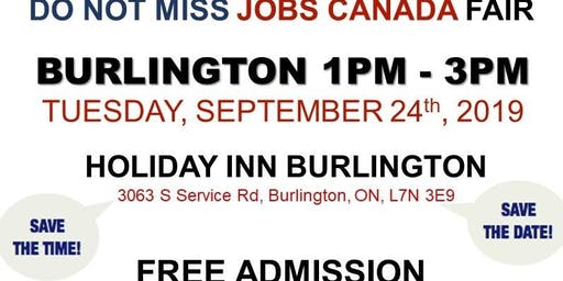 FREE: Burlington Job Fair – September 24th, 2019