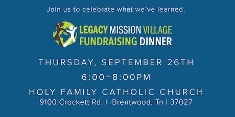 Legacy Mission Village Banquet  tickets