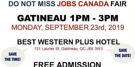 Gatineau Job Fair - September 23rd, 2019 tickets