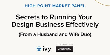 Secrets to Running Your Design Business Effectively tickets