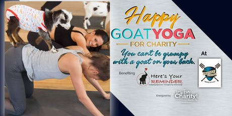 Happy Goat Yoga-For Charity at Panther Island Brewing-INDOOR Session  tickets
