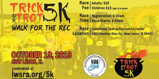 Heather Glen Trick or Trot 5k...Walk for the Rec