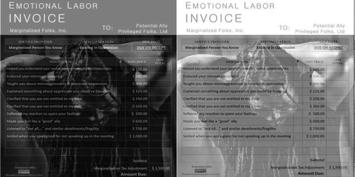 Emotional Labor Invoice: Reading by Christopher Johnson