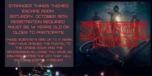 Stranger Things Themed Escape Room