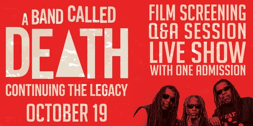 A Band Called Death: Film Screening, Q&A, and Live Performance!