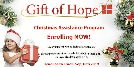 Gift of Hope 2019 Enrollment