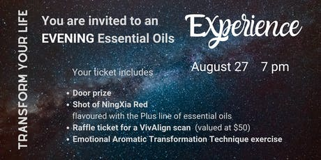 Essential Oils Experience - EVENING tickets