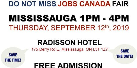 FREE: Mississauga Job Fair - September 12th, 2019 tickets