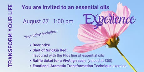 Essential Oils Experience - DAYTIME tickets