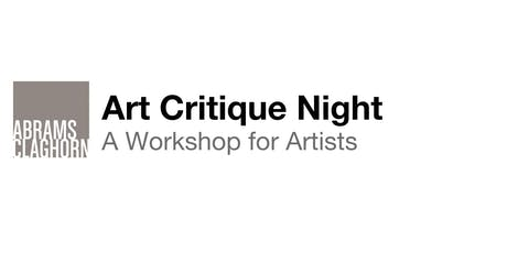 A Workshop for Artists : Art Critique Night tickets
