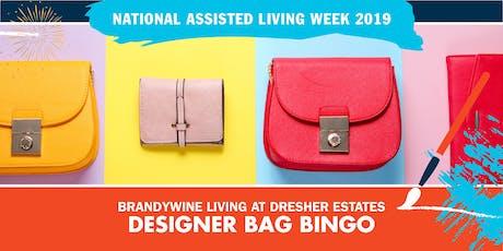 Designer Bag Bingo tickets