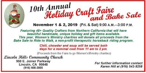 10th Annual Holiday Craft Faire and Bake Sale