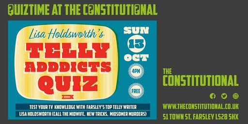 Lisa Holdsworth's Telly Addicts Quiz: 13 Oct 2019