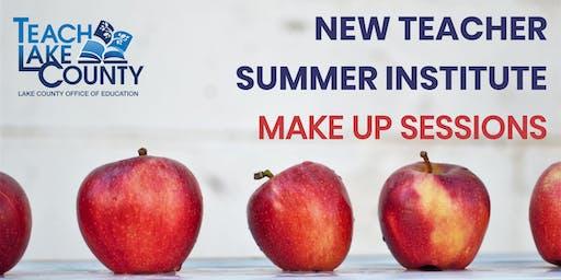 New Teacher Summer Institute Make Up Sessions