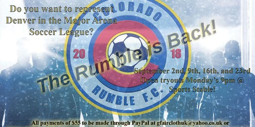 2019-20 CO Rumble F.C. Tryouts