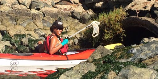 Kayak Cleanup with Brown Girl Surf on Creek to Bay Day 2019