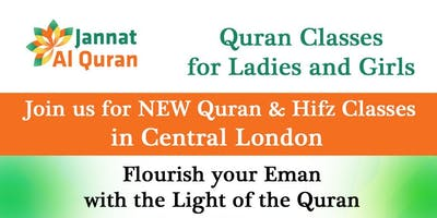Join 'Jannat Al Quran', Ladies Quran Classes In Central London from September