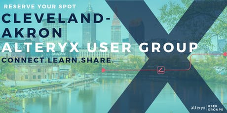 Cleveland-Akron Alteryx User Group Q3 Meeting tickets