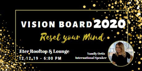 Vision Board 2020 Reset your Mind tickets