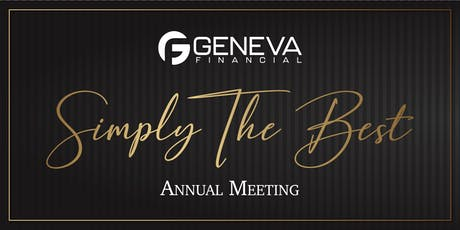 2019 Geneva Annual Meeting: Simply The Best tickets