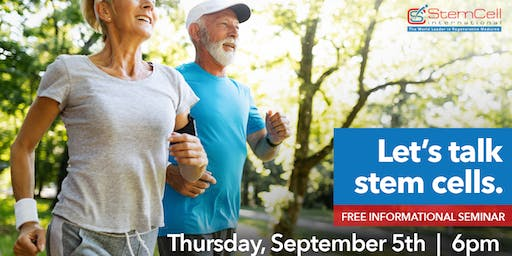 Let's Talk Stem Cells: FREE Informational Seminar for Joint Pain