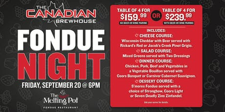 Fondue Night in Harvest Hills!  tickets