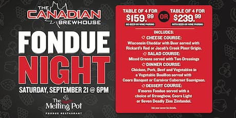 Fondue Night at Regina (Grasslands)! tickets