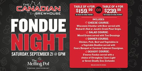 Fondue Night in Mahogany! tickets