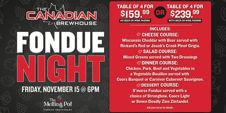 Fondue Night in Airdrie! tickets