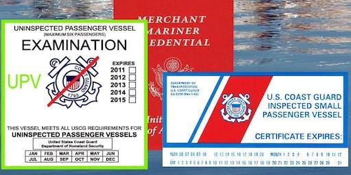 Guardia Costera EE.UU. Taller Transporte de Pasajeros Por Medio De Pago