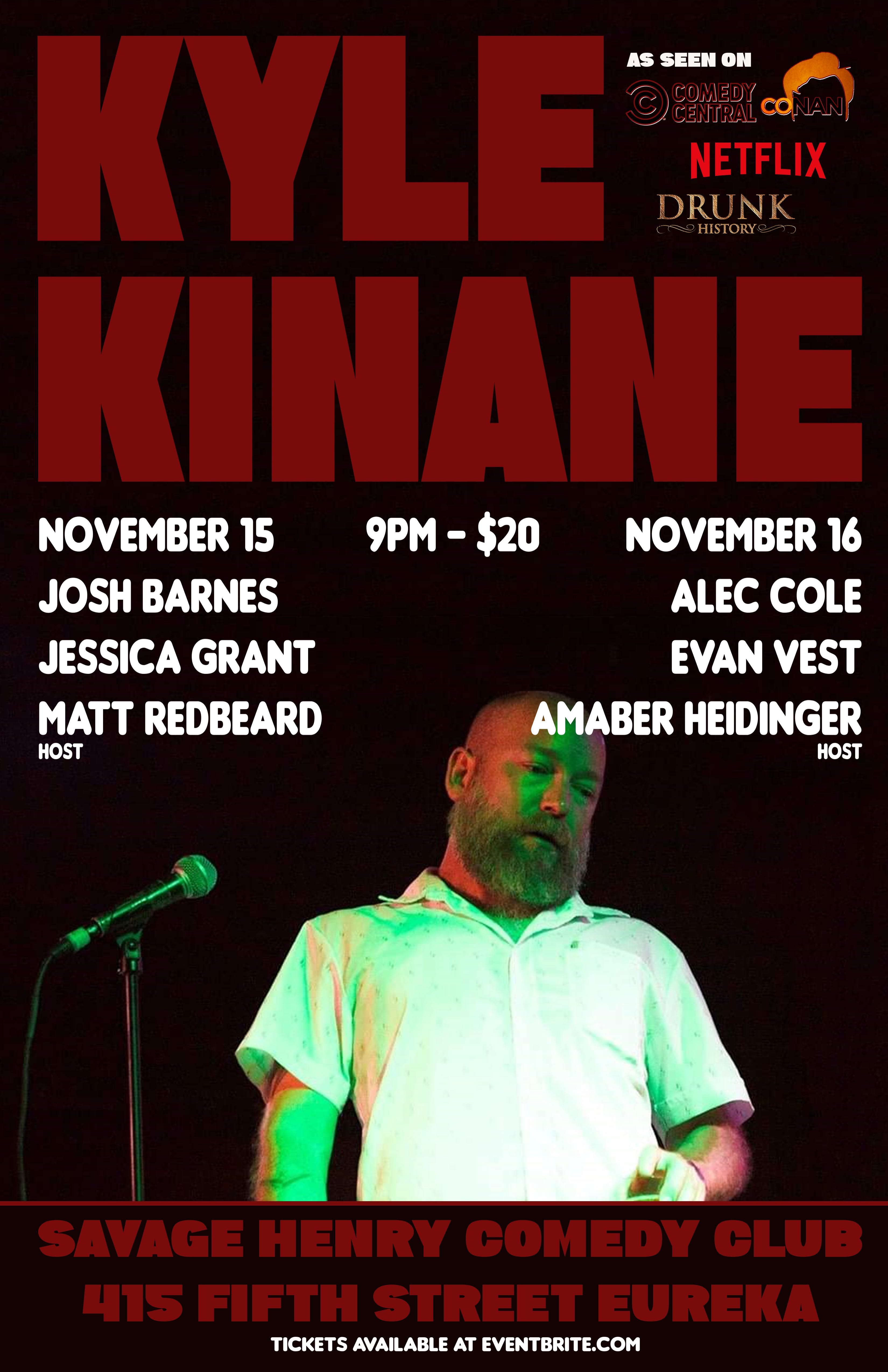 Kyle Kinane does a weekend at The Club