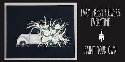 Fresh Farm Flowers Truck - Paint Lesson