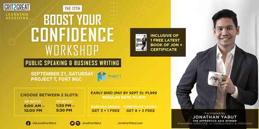 Boost Your Confidence Workshop with Jonathan Yabut