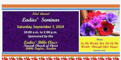 32nd Annual Newark Ladies Seminar
