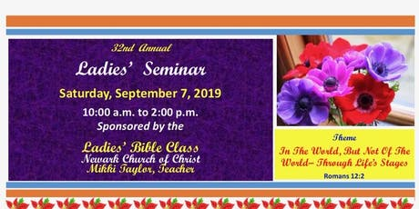 32nd Annual Newark Ladies Seminar  tickets