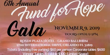 "Clarita's House Outreach Ministry ""FUND FOR HOPE"" GALA tickets"