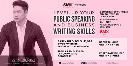 Level Up Your Public Speaking and Business Writing Skills tickets