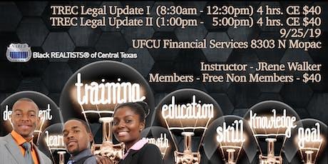 TREC Legal Update I & II tickets