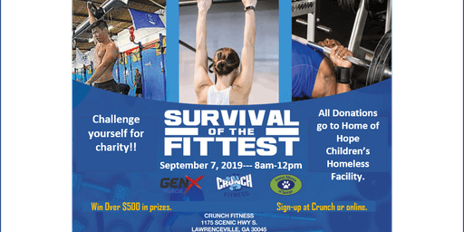 Challenge yourself for Charity!!  Join us for Survival of the Fittest event