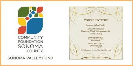 Sonoma Valley Fund 2019 STAR Volunteer Awards tickets