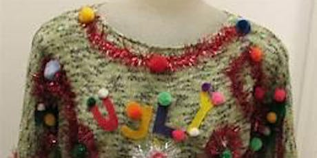 Ugly sweater competition and dance tickets