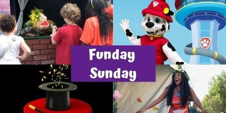 FUNDAY SUNDAY:  Magic Show, Puppet Show, Moana and Paw Patrol tickets
