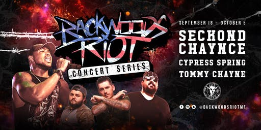 Backwoods Riot Concert Series at The Rail Club